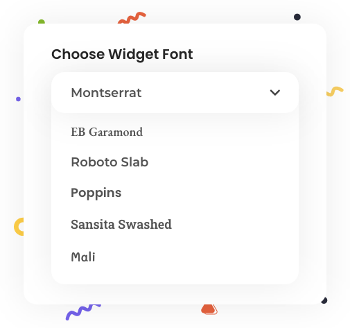 Widget New Fonts