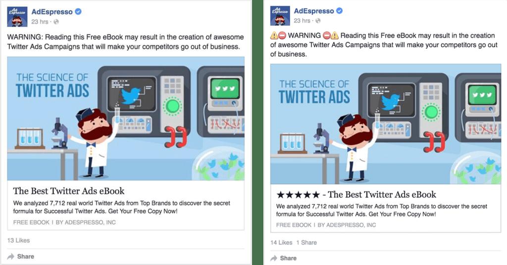 emojis in adespresso ad