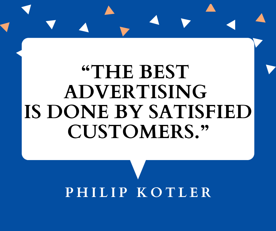 Best advertising helps with how to get referrals - Philip Kotler quote