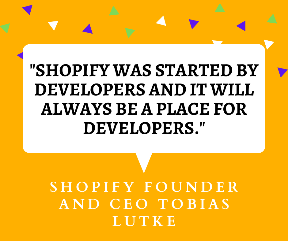 Shopify Unite 2021 quote by Shopify founder and CEO Tobias Lutke