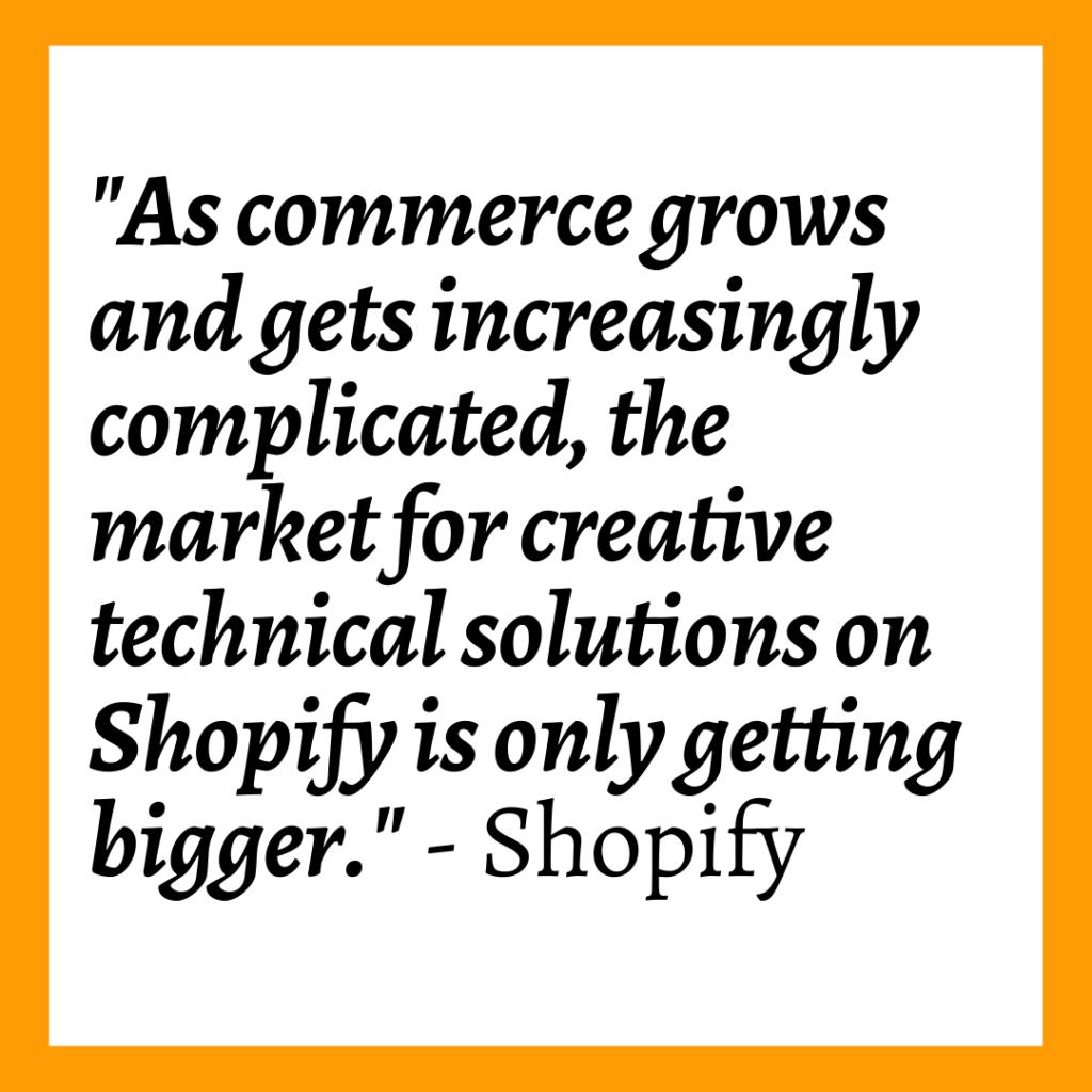 Shopify Unite 2021 quote