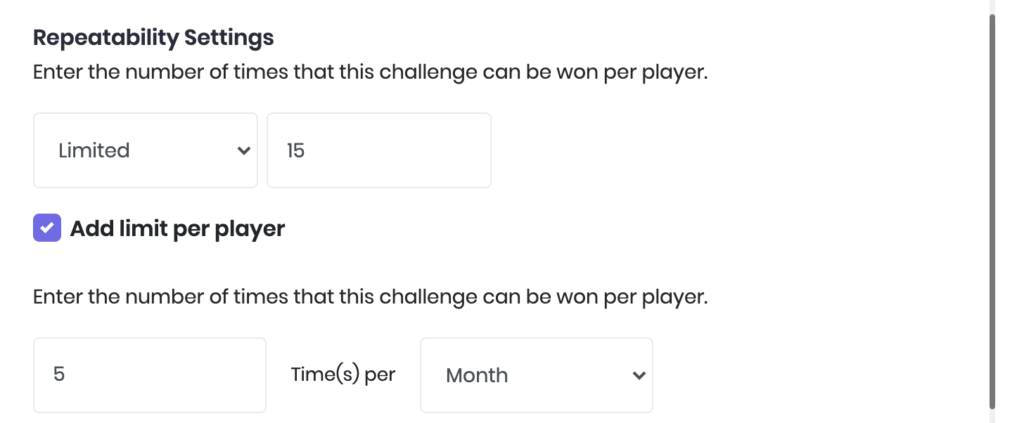 Add-achievement-limit-per-player